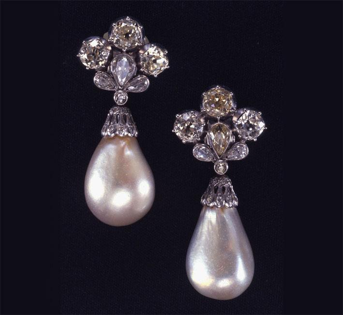 Gli orecchini con perle appartenuti a Maria Mancini