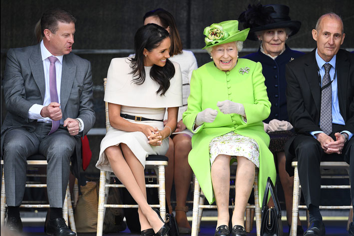 La regina Elisabetta e Meghan Markle