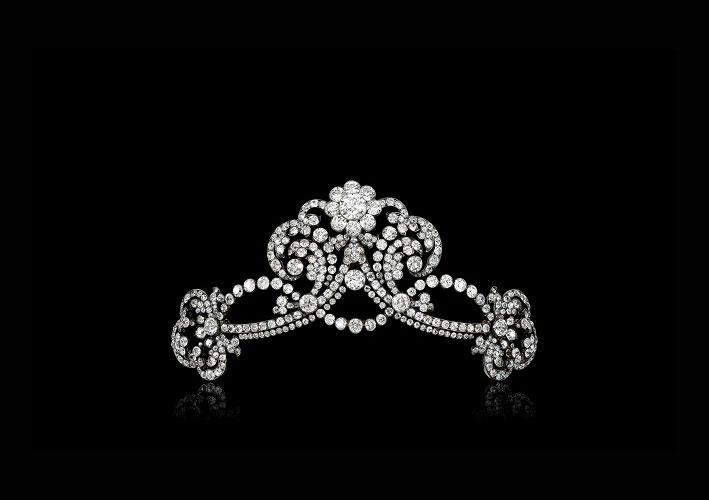 Tiara di diamanti donata dall'imperatore Francesco Giuseppe a sua nipote, arciduchessa Maria Anna d'Austria