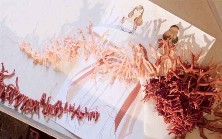 Il corallo cucito da Chantecler