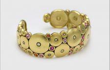 Bracciale Orchard in oro 18 carati, zaffiro e diamanti