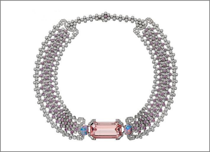 Choker Yoshino con zaffiri e diamanti senza pendente