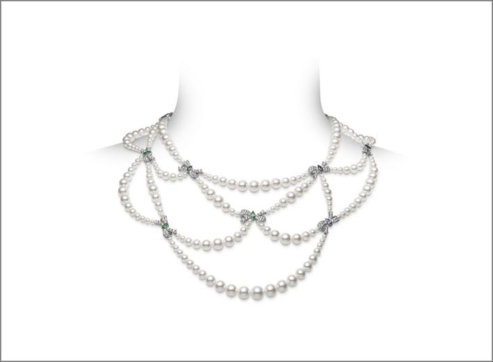 Mikimoto, collana con perle