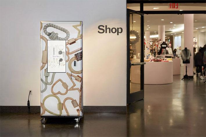 Il distributore automatico installato nel Brooklyn Museum