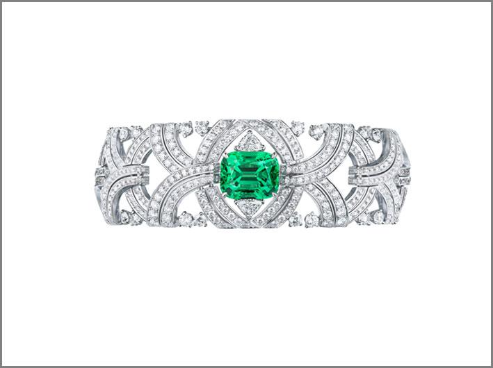 Bracciale con diamanti e tormalina Paraiba