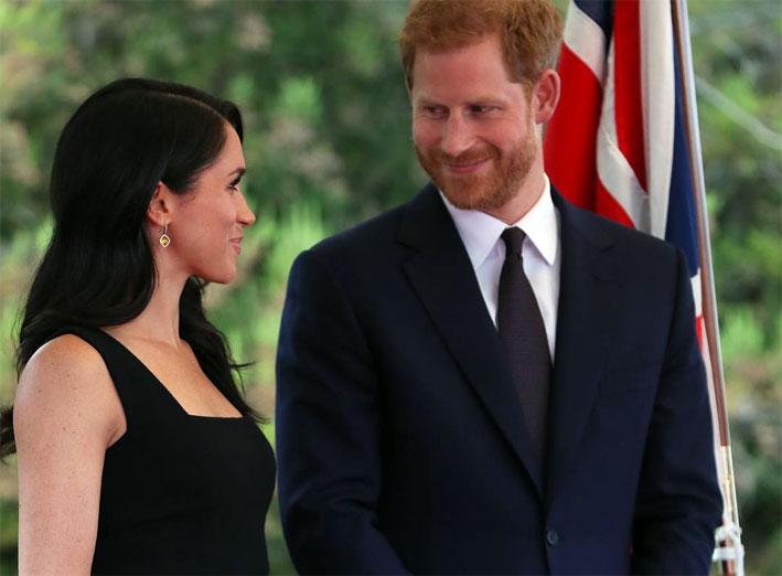 La principessa della Sussex, assieme al orecchini Muse, con citrini e diamanti
