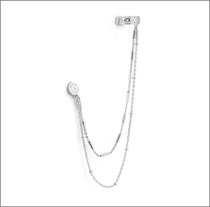 Rosato, orecchino in argento