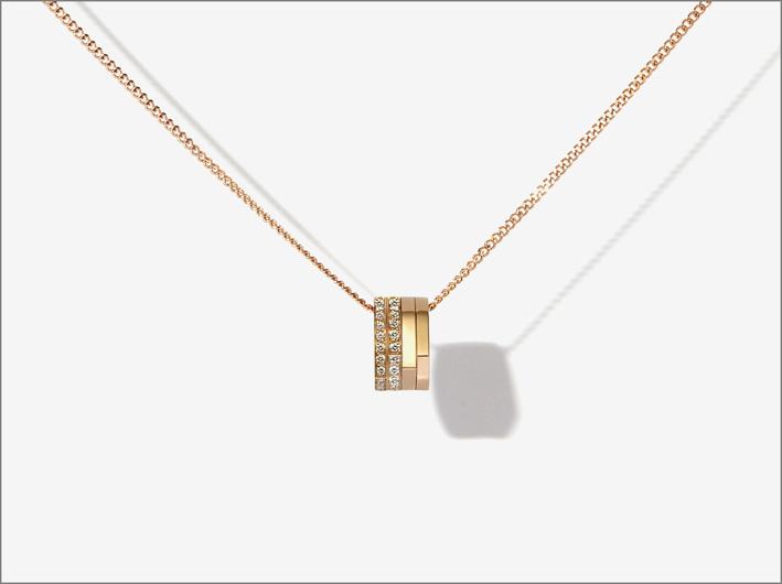 Pendente della collezione Antifer, oro rosa e diamanti