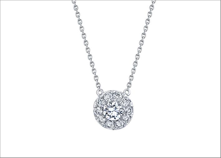 Pendente Lucile con diamanti