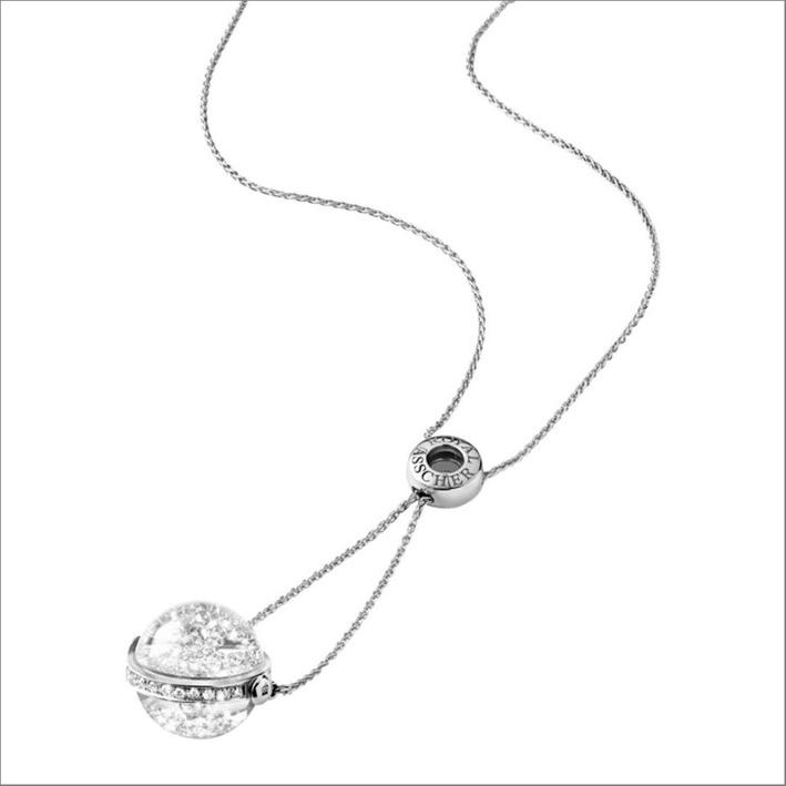 Collezione della collezione Lyra in oro bianco e diamanti