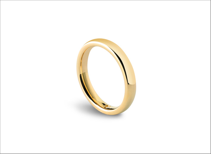 Noi2, fede nuziale in oro giallo by Damiani