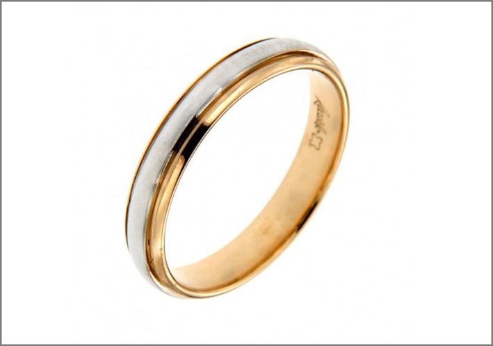 Fede nuziale in oro bicolore di Recarlo