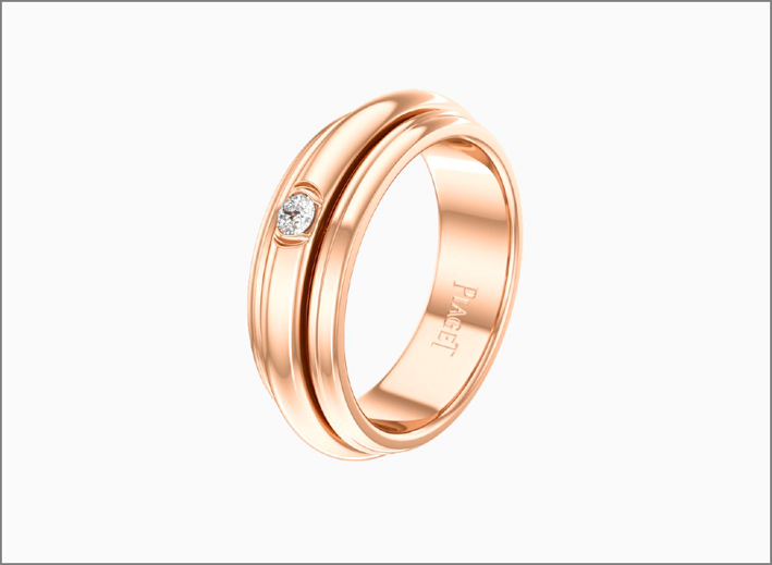 Anello di Piaget Possession, in oro rosa e diamante