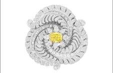 Van Cleef & Arpels, clip con diamante giallo