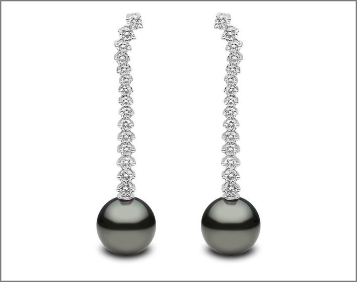 Yoko London, orecchini con perle di Tahiti e diamanti