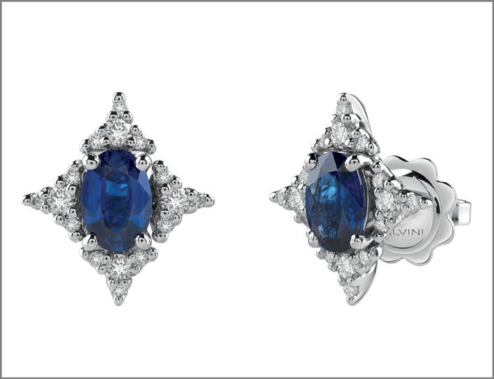 Orecchini con zaffiri e diamanti