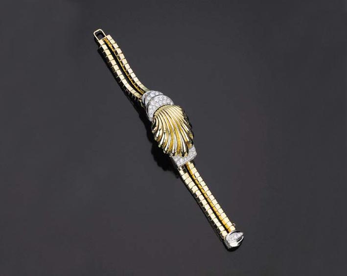 Orologio in oro e brillanti battuto all'asta da Christie's