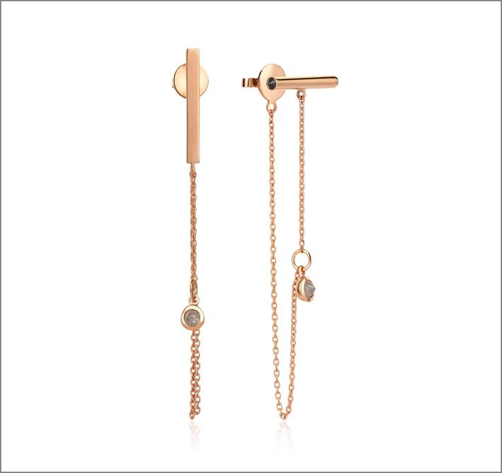 Shiva Jewels, orecchini in oro rosa