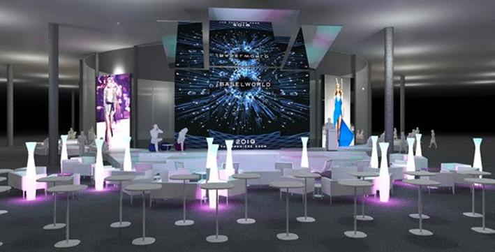 Lo Show Plaza nella Hall 1.2, riservata alla gioielleria