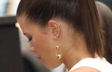 Sofia Richie con orecchini della collezione Tiffany City HardWear