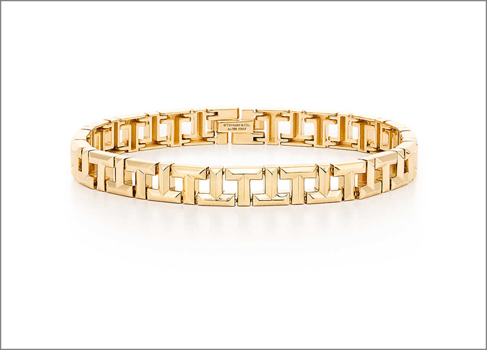 Bracciale in oro della Tiffany T True Collection