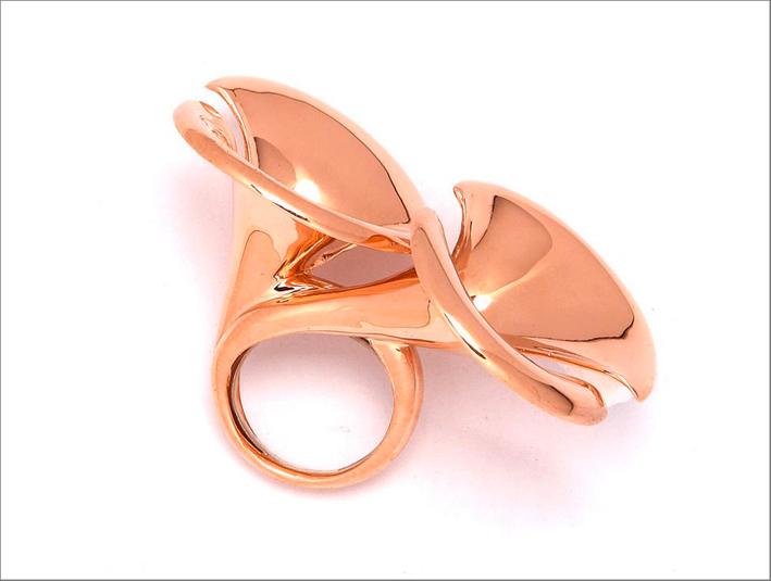 Anello in oro rosa di Arman