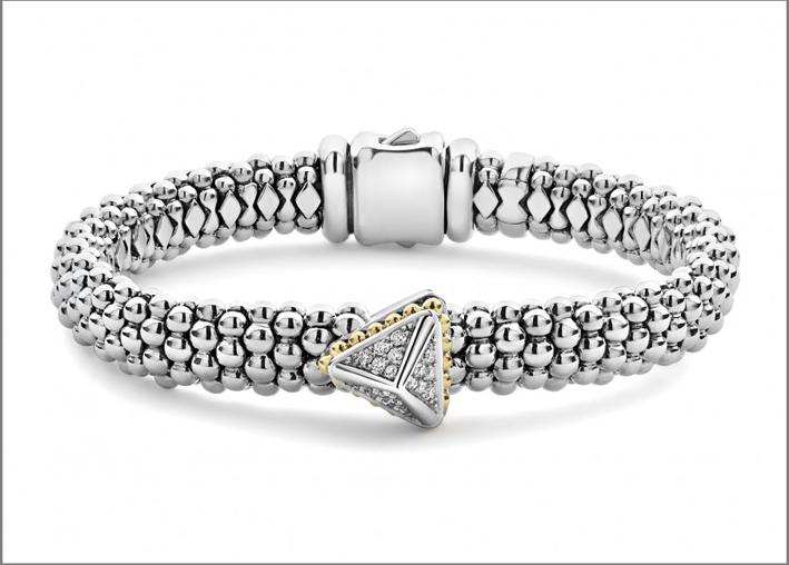 Bracciale in argento e diamanti di Lagos
