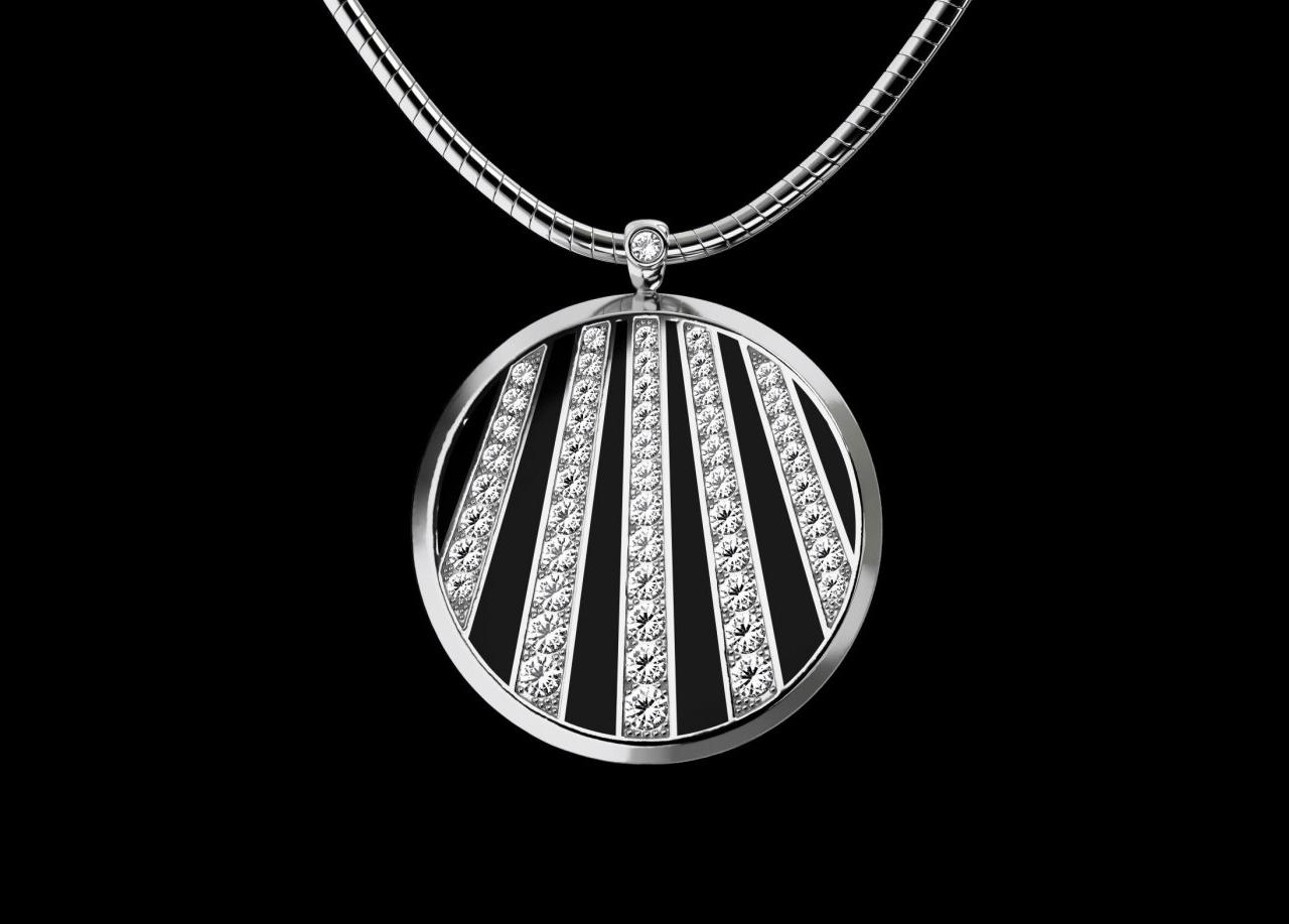 Collana in argento e cristalli Swarovski