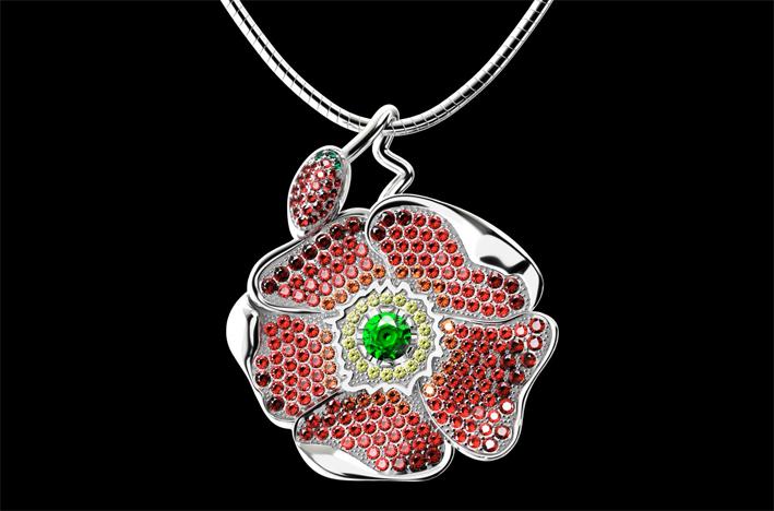 Oz Bijoux, collana in argento e cristalli Swarovski
