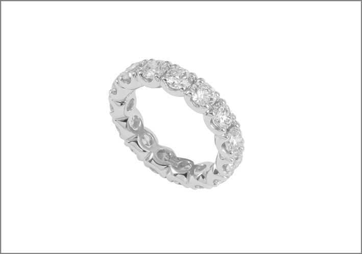 Pisa Diamanti, anello eternity