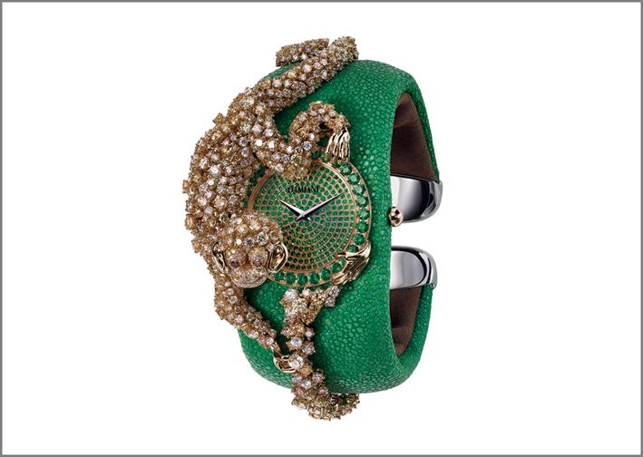 Alta gioielleria Damiani, orologio con scimmia