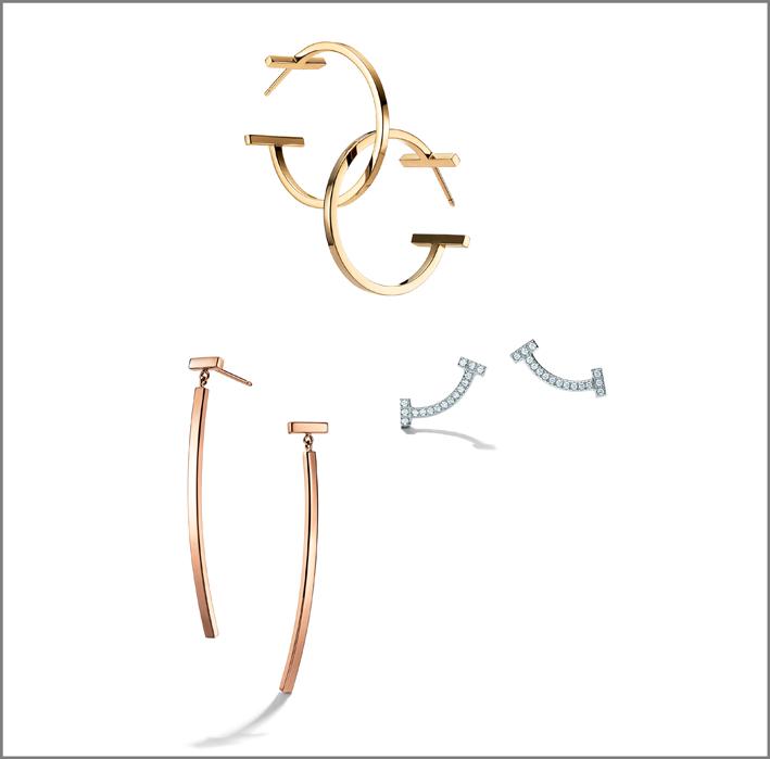 Tiffany, orecchini in oro e diamanti