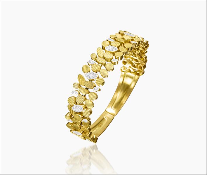 Bracciale Be in oro giallo e diamanti
