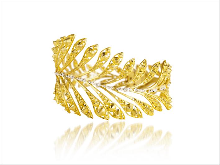 Bracciale Luz in oro giallo e diamanti