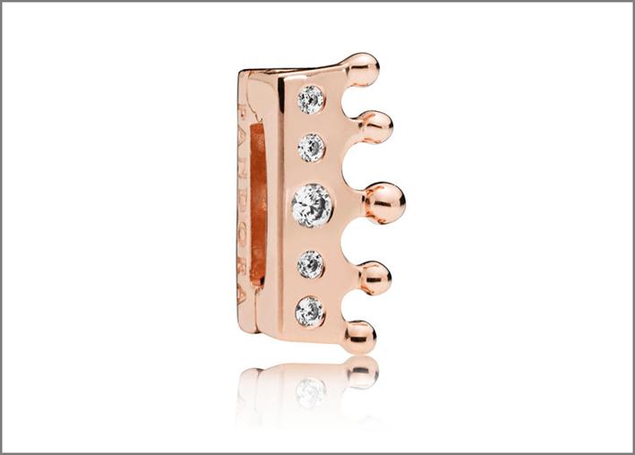 Charm della collezione Reflexions in versione rosa e zirconia cubica