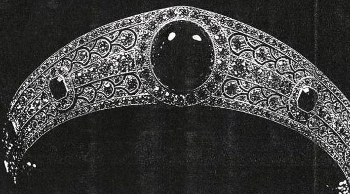 Un'immagine degli anni Venti della tiara Greville