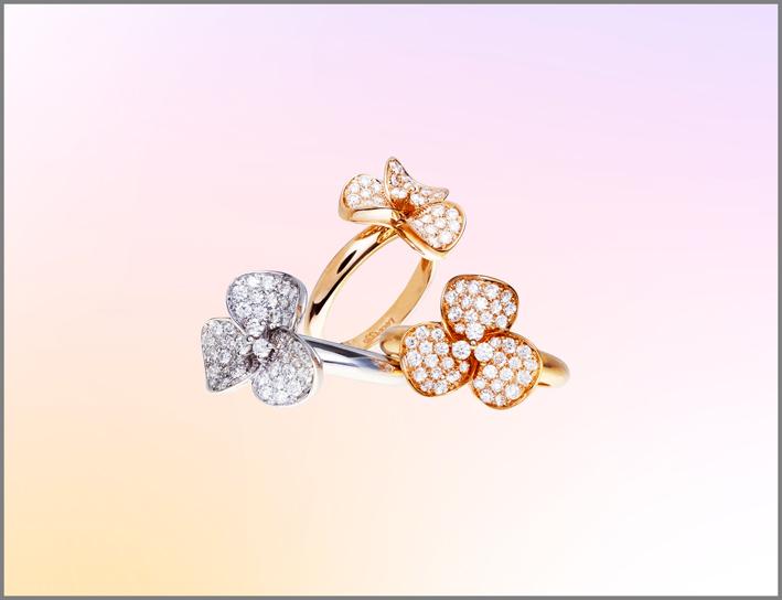 Anelli in oro e diamanti