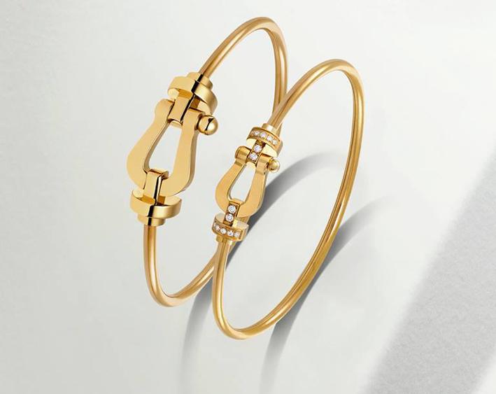 Bracciale in oro giallo della collezione Force 10