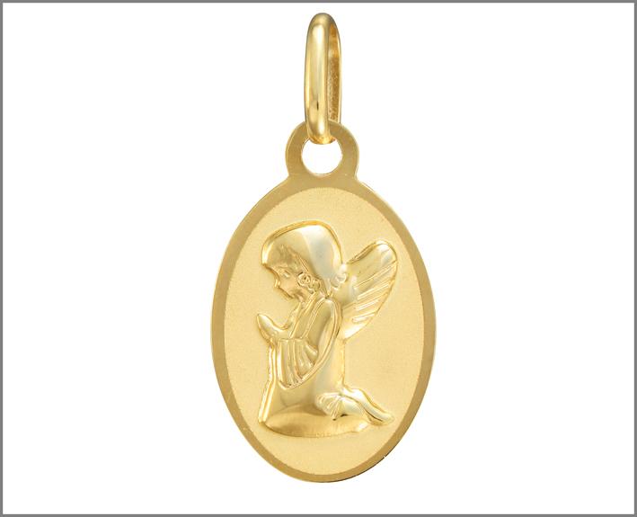 Medaglietta con angelo
