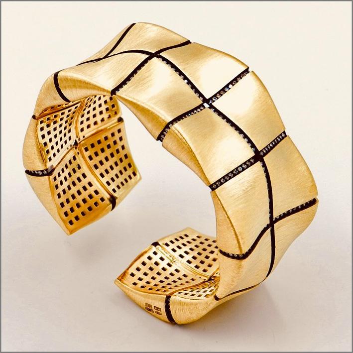 Bracciale in oro giallo e diamanti