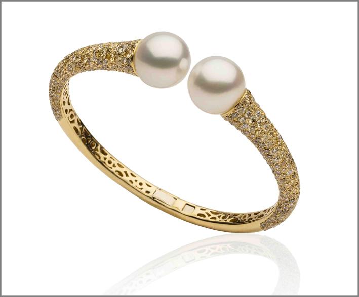 Bracciale in oro e perle