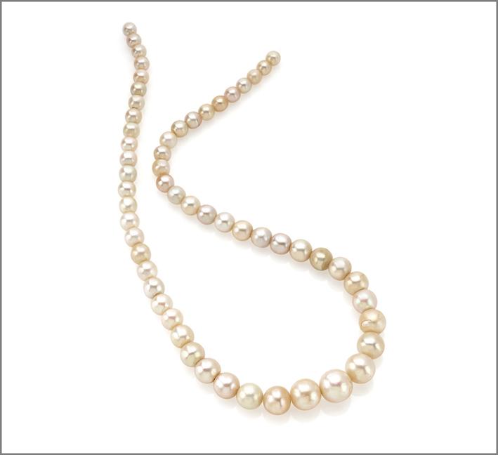 Collana con perle naturali
