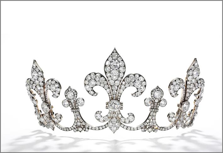 Diadema di diamanti appartenuto a Carlo X