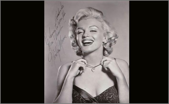 La foto autografata di Marilyn Monroe