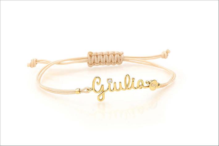 Bracciale Giulia in oro giallo e diamante