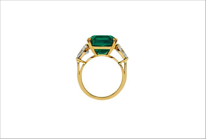 Anello con smeraldo colombiano di 8,39 carati
