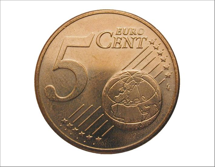 Una moneta da 5 centesimi: contiene nickel