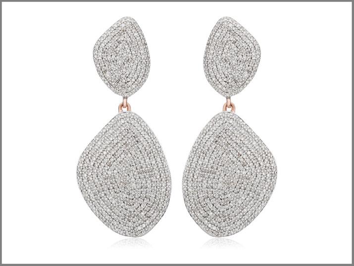 Orecchini con pavé di diamanti Noura