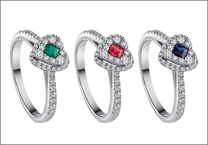 Salvini, anelli della collezione Forma