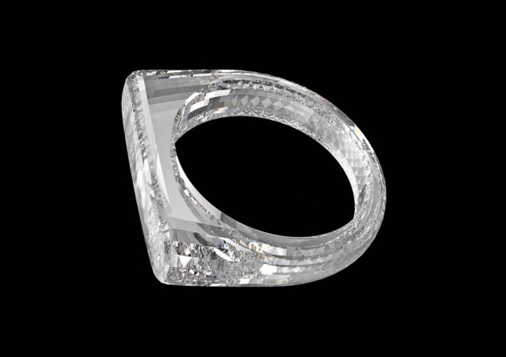 A ring in a single diamond from the father of the iPhone